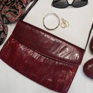 Red Eelskin Shoulder/Clutch Handbag